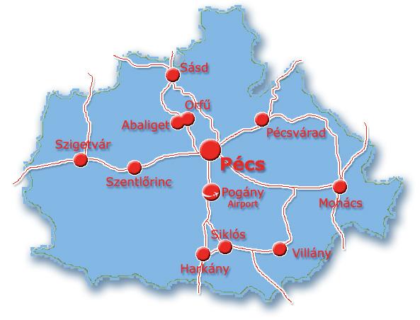 pécs magyarország térkép Térkép, megközelítés   Szállás Pécs   Pécsi szállások, olcsó kiadó  pécs magyarország térkép