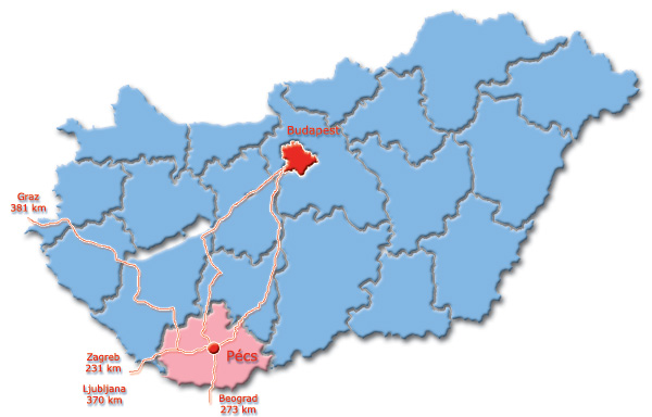 pécs térkép Térkép, megközelítés   Szállás Pécs   Pécsi szállások, olcsó kiadó  pécs térkép